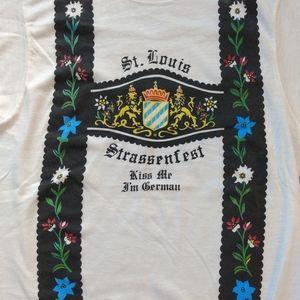 Vintage German Lederhosen Oktoberfest StLouis Tee
